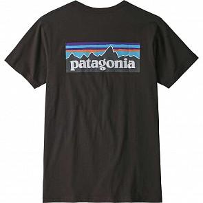 Patagonia P-6 Logo Organic Tee - Black