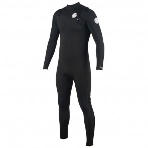 Rip Curl Aggrolite 4/3 Chest Zip Wetsuit - Black
