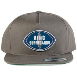 Bing Surfboards Patch Premium Twill Hat - Charcoal