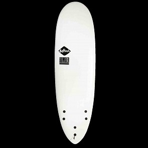 Softech Bomber 5'10 Soft Surfboard - White/Blue - Bottom