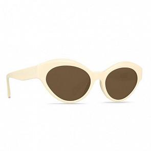 Raen Veil Sunglasses - Bone/Vibrant Brown - Side Angle