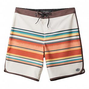 O'Neill Hyperfreak Lined Up Boardshorts - Bone White - front