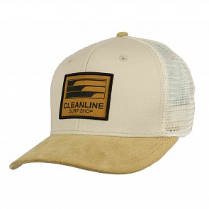 Cleanline Lines Mesh Hat - Stone/Camel