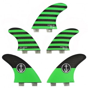 Captain Fin CF Medium FCS Tri-Quad Fin Set