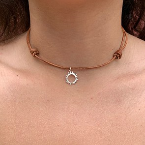 Cape Cod Sun Love Bohemian Choker - Brown