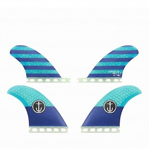 Captain Fin CF Medium Futures Quad Fin Set - Blue