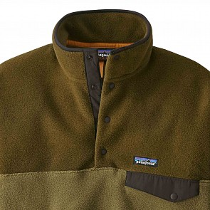 Patagonia Lightweight Synchilla Snap-T  Fleece Pullover - Cargo Green