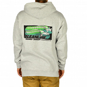 Cleanline Retro Wave Hoodie - Heather Grey