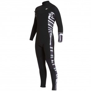 Billabong Furnace Revolution 3/2 Chest Zip Wetsuit - Black Print