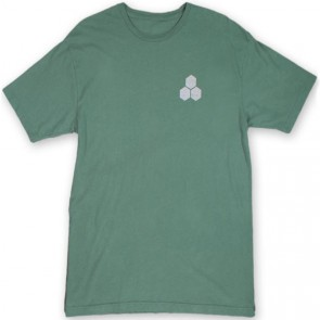 Channel Islands Stamped Flag T-Shirt - Green Washed