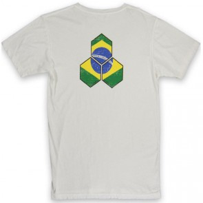 Channel Islands Brazil Distressed Hex T-Shirt - Bone White