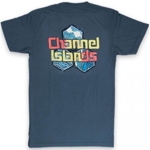 Channel Islands Water Color Hex T-Shirt - Indigo