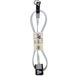 Channel Islands Hex Cord Standard Leash - Silver