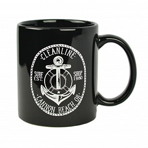 Cleanline Anchor Cannon Beach Mug - Black/White