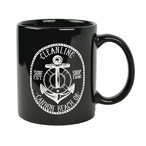 Cleanline Anchor Mug - Black/White