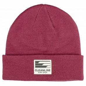 Cleanline Beanie - Crimson