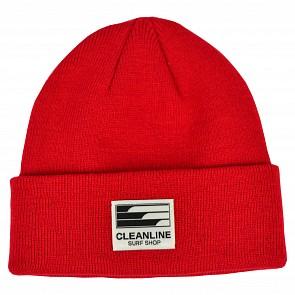 Cleanline Beanie - Scarlet