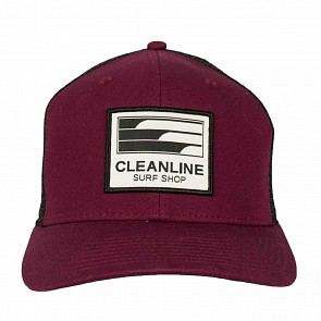 Cleanline Lines Hat - Maroon/Black