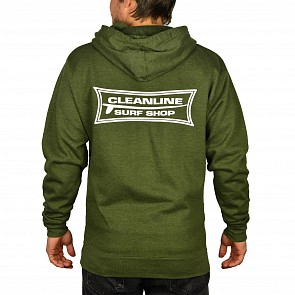 Cleanline Longboard Hoody - Army Heather
