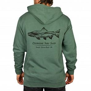 Cleanline Salmon Hoody - Pigment Alpine Green