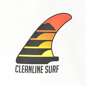 Cleanline Sunset Fin T-Shirt - White