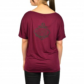 Cleanline Women's Anchor 2.0 V-Neck Top - Maroon