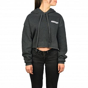 Cleanline Women's Cropped Longboard Hoody - Dark Grey Heather