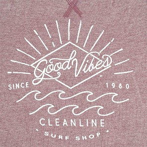 Cleanline Women's Good Vibes Sweatshirt - Cranberry