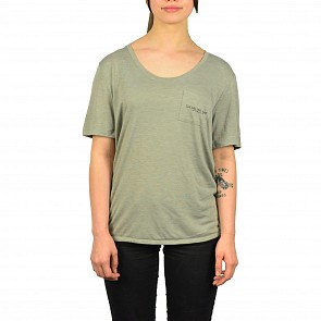 Cleanline Women's Haystack Rays Pocket Top - Heather Stone