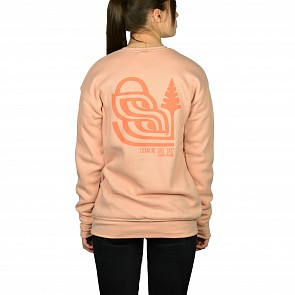 Cleanline Women's Pine Stamp Seaside Sweatshirt - Peach