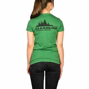 Cleanline Women's Treeline Seaside Top - Heather Grass Green