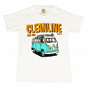 Cleanline Youth Bus Trip Seaside T-Shirt - White