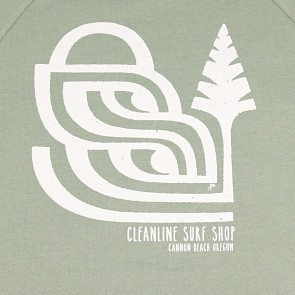 Cleanline Women's Pine Stamp Hoody - Sage