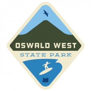 Patchmarks Oswald West State Park Surfer Sticker