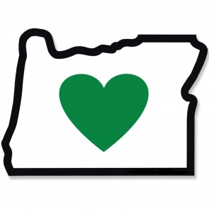 Heart Sticker Co. Heart In Oregon Sticker