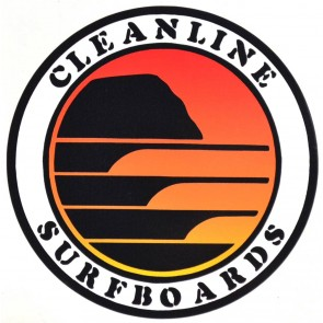 Cleanline Surf Sunset Circle Sticker