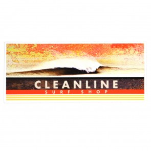 Cleanline Surf Morning Stretch Sticker