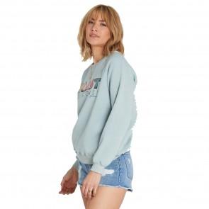 Billlabong Women's Coastal View Sweatshirt  - Blue Light