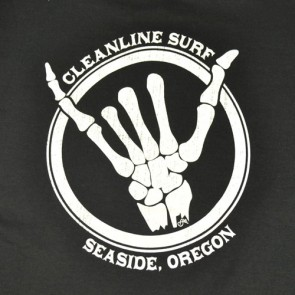 Cleanline Youth Shaka Bones Seaside T-Shirt - Black