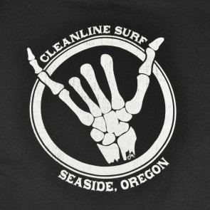 Cleanline Youth Shaka Bones Seaside Hoody - Black