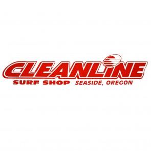 Cleanline Surf Seaside Logo Die Cut Sticker - Red