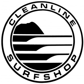 Cleanline Surf Big Rock Circle Sticker - Black