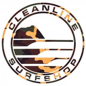 Cleanline Surf Big Rock Circle Sticker - Camo