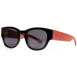 Cassette Monarch Polarized Sunglasses - Black/Red/Smoke