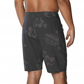 Dakine Sumbawa Travel Boardshorts - Black Hibiscus