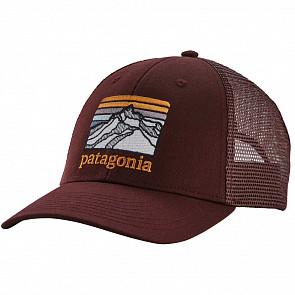 Patagonia Lines Logo Ridge LoPro Trucker Hat - Dark Ruby