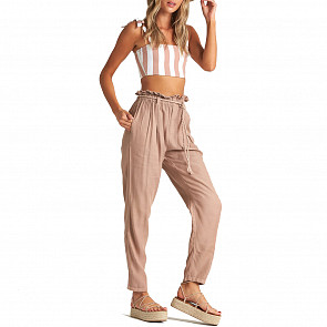 Billabong Women's Desert Adventure Pants - Khaki Sand - front