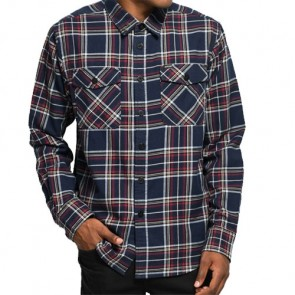 Dark Seas Goleta Long Sleeve Flannel - Navy