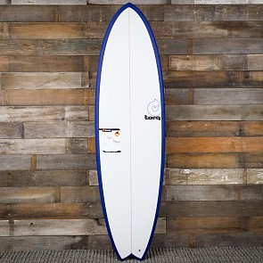 Torq Mod Fish 6'3 x 20 1/2 x 2 1/2 Surfboard - Navy Blue/White - Deck