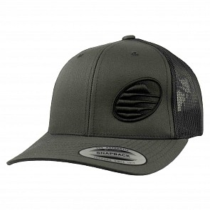 Cleanline Embroidered Rock Mesh Hat - Charcoal/Black